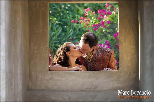 Bab al Shams dubai portrait des mariés