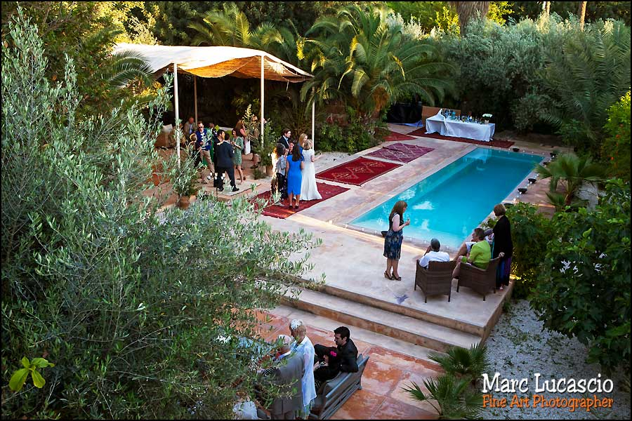 Cocktail piscine villa Jnane Tamsna