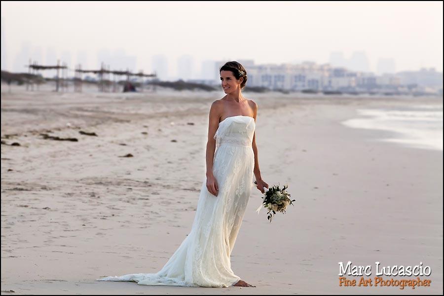 mariage abou dabi mariée plage