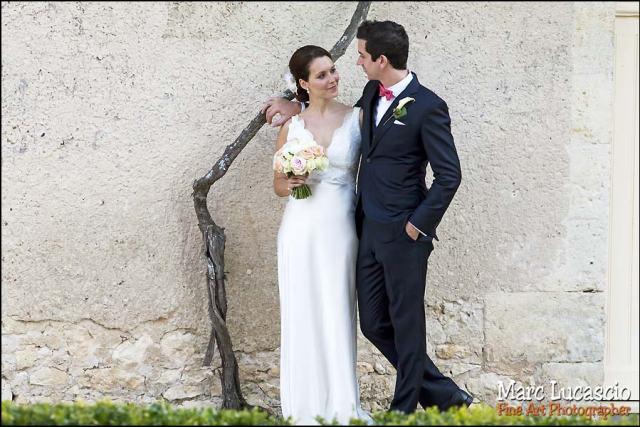 mariage saint emilion photo de couple