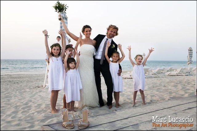 groupe enfant sur la plage