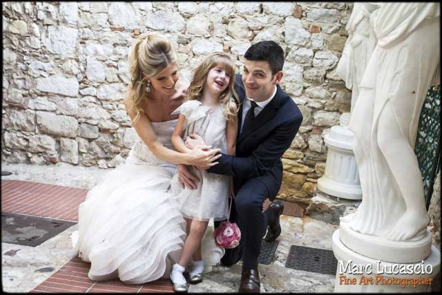 photo mariage cote d'azur portrait des mariees enfant