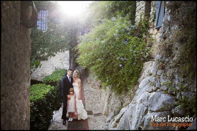 photo mariage cote d'azur ruelle eze