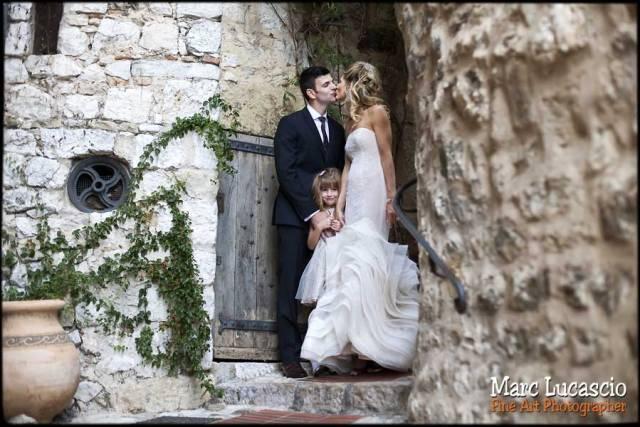 photo mariage eze cote d'azur couple et enfant