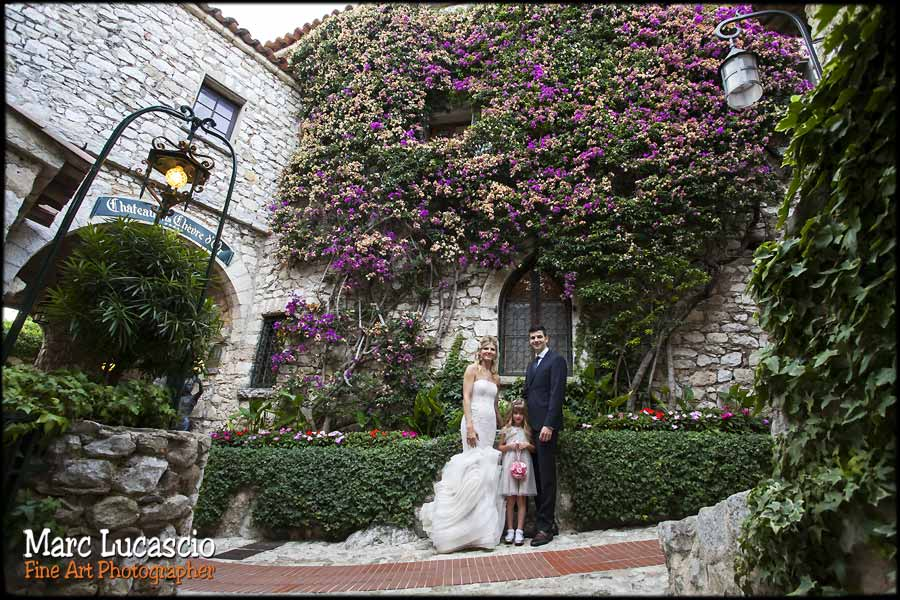 photo mariage la chèvre d'or village eze