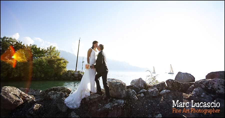 mariage montreux bord du lac de geneve