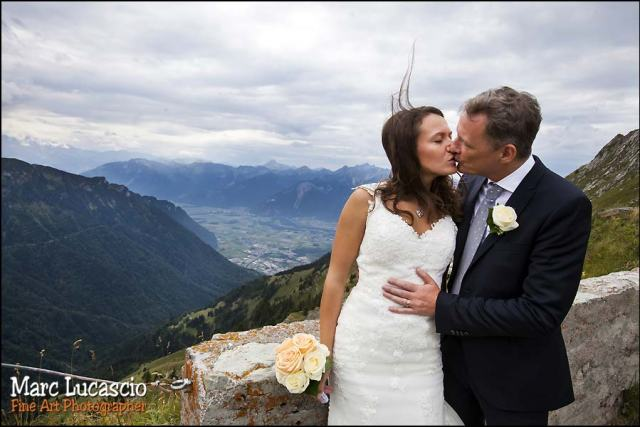 mariage Montreux couple alpes