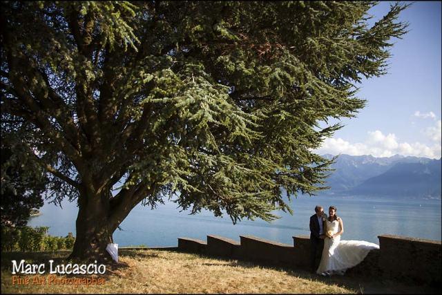 panorama lac de Genève mariés
