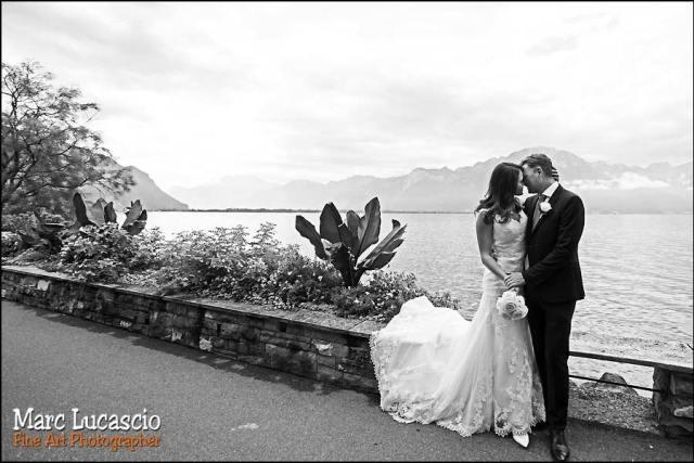 mariage Montreux promenade bord du lac Genève