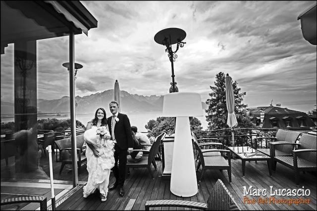 mariage Montreux terrasse café