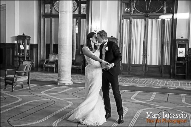 photo mariage Montreux valse noir et blanc
