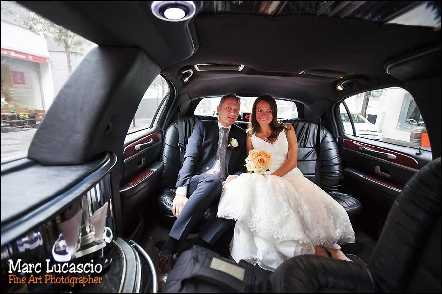 photo mariage Montreux voiture des maries