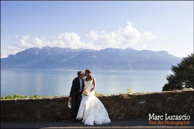mariage Montreux vue panoramique mont-blanc