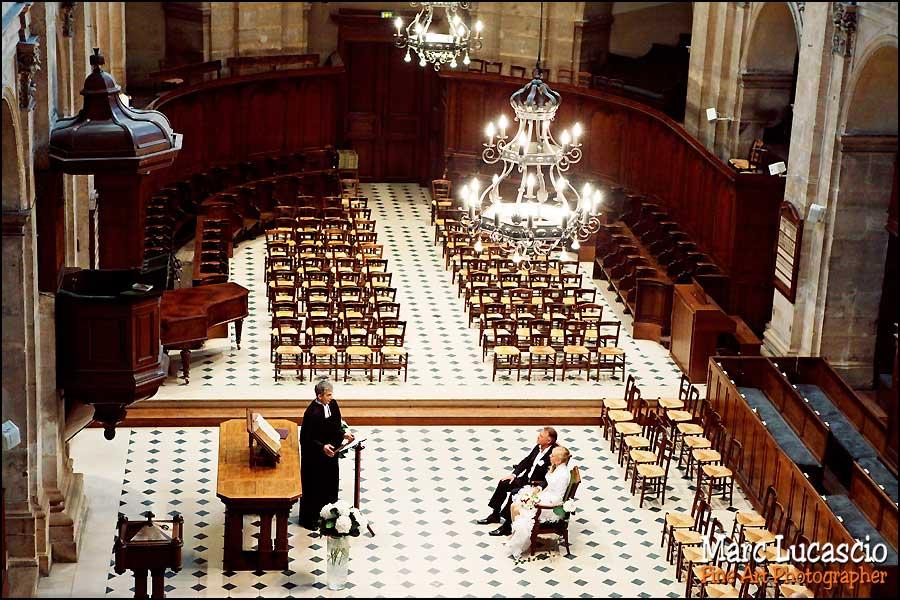 Photos mariage à l'Oratoire du Louvre à Paris