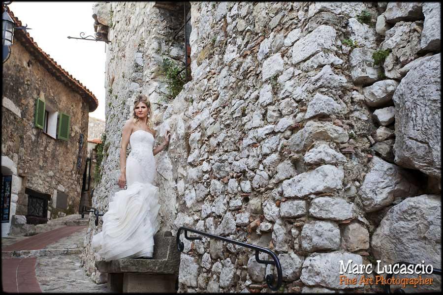 photo mariage village eze french riviera