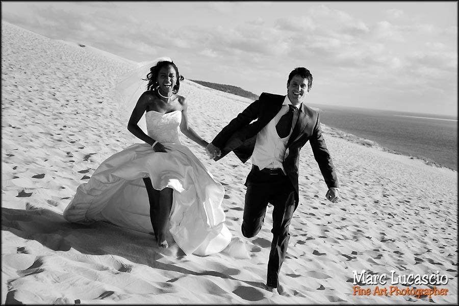 portrait couple mariage dune du pyla