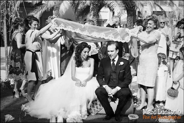 Mariés sous la Tooreh photo mariage
