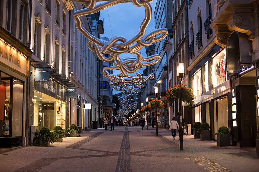 Art on Rue Philippe II Luxembourg