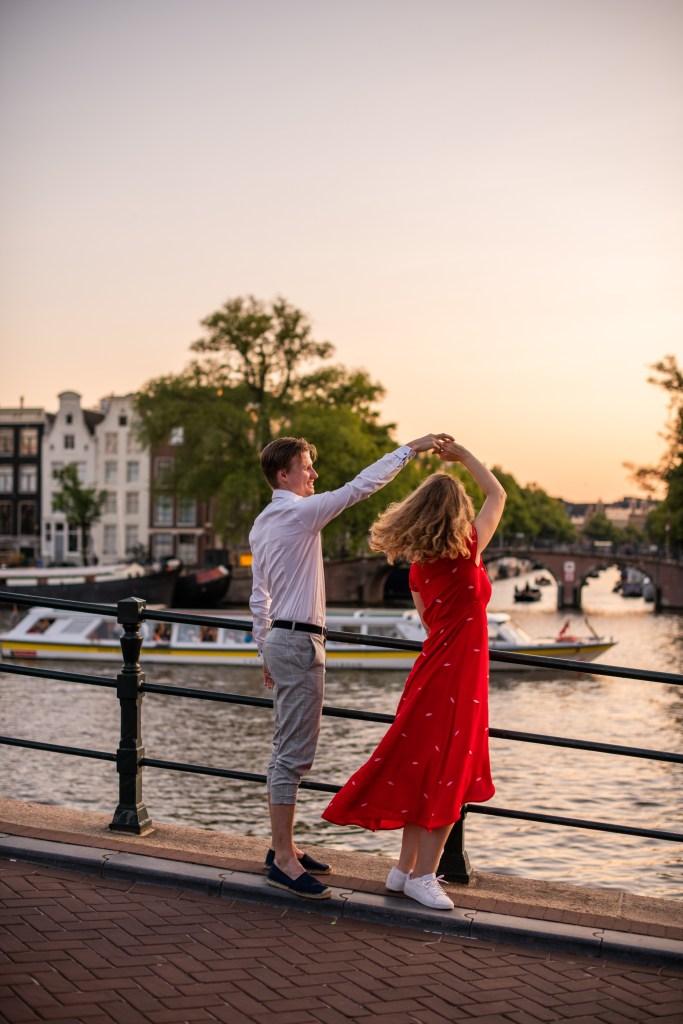 Amsterdam canal photoshoot