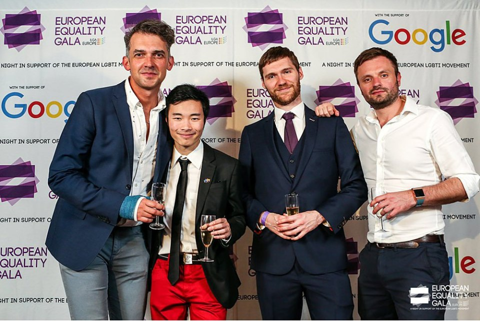 vent photographer for ILGA's European equality gala