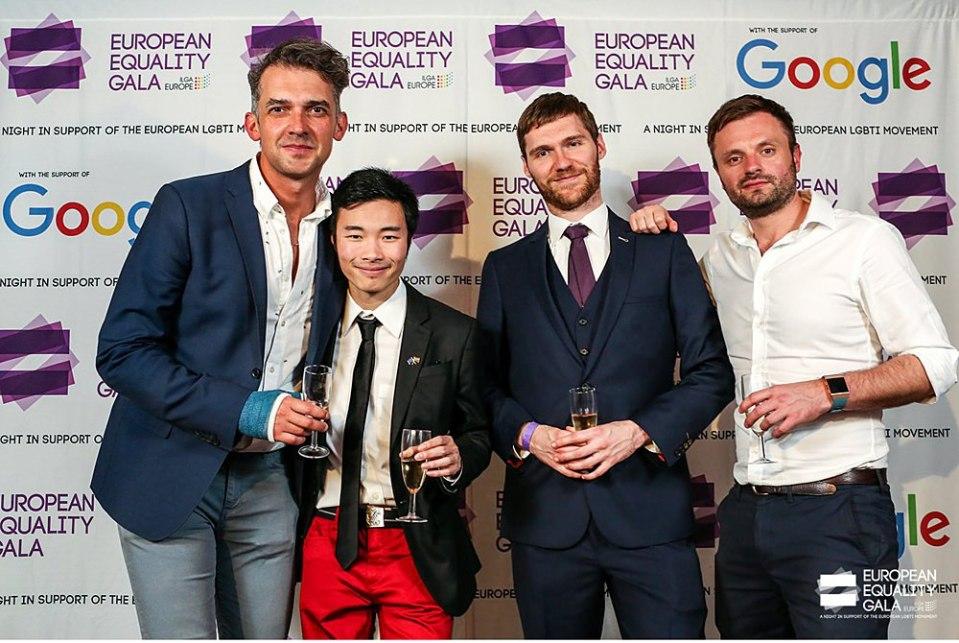 vent photographer for ILGA's European equality gala