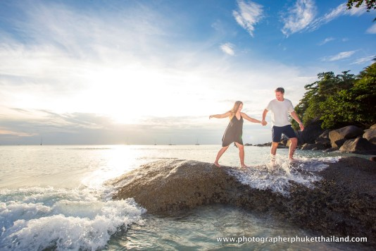 couple photo shooting at kata noi beach Phuket