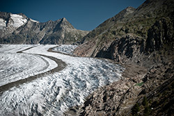 Aletsch Glacier in Valais, Switzerland