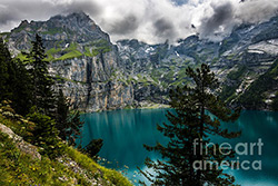 Oeschinensee in the Swiss Alps above Kandersteg