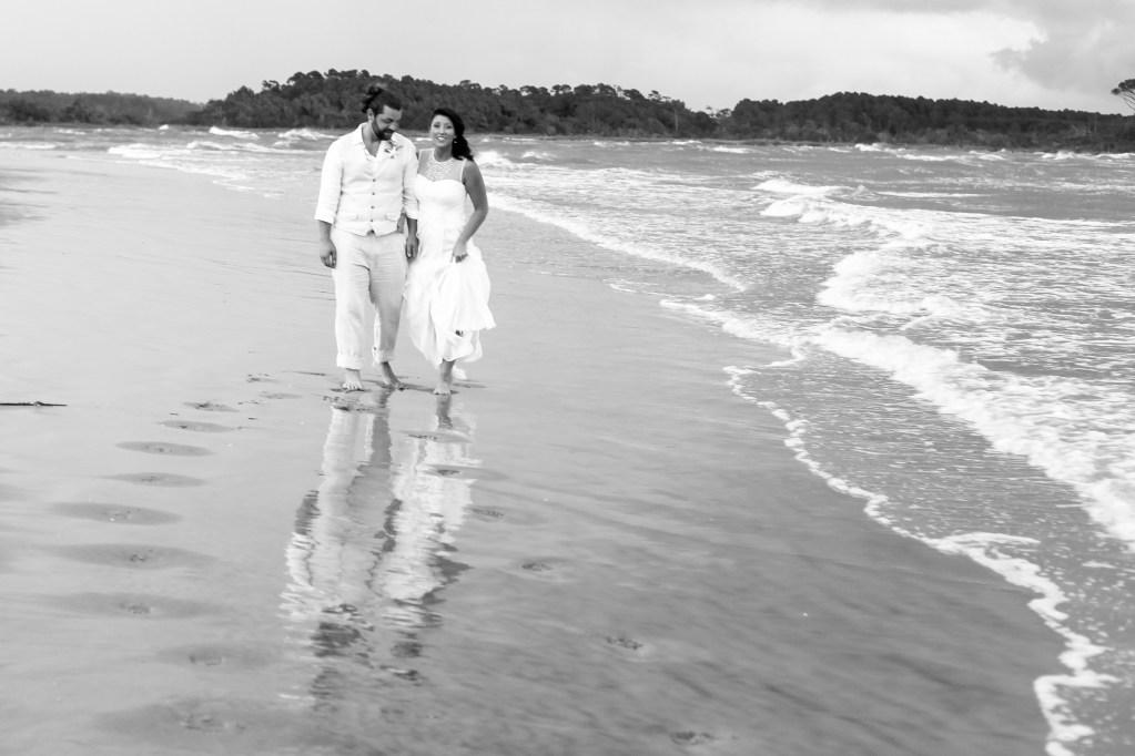 Wedding on the beach at Cherry Grove