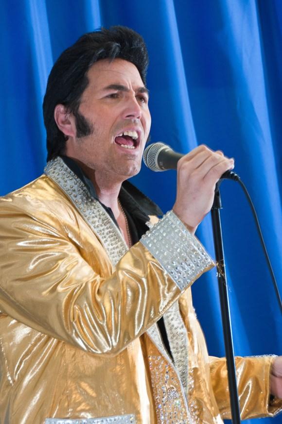 Photographers of Las Vegas - Portrait Photography - Elvis Tribute Artist singing