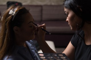 Photographers of Las Vegas - Wedding Photography - Wedding bride getting hair and makeup done