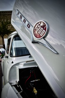 Photographers of Las Vegas - Car Photography - White Ford F100 hdr