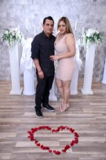 Photographers of Las Vegas - Wedding Photography - wedding bride and groom with roses in shape of heart