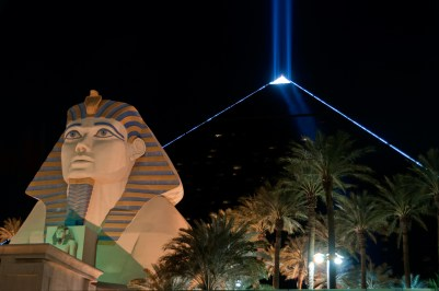 Photographers of Las Vegas - Architectural Photography - luxor sphinx and pyramid