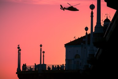 Photographers of Las Vegas - Architectural Photography - helicopter in the sunset