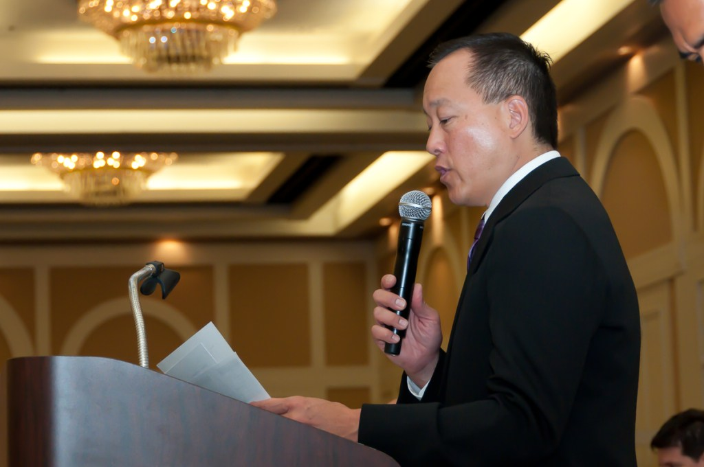 Photographers of Las Vegas - Corporate Photography - Taekwondo tournament opening speech