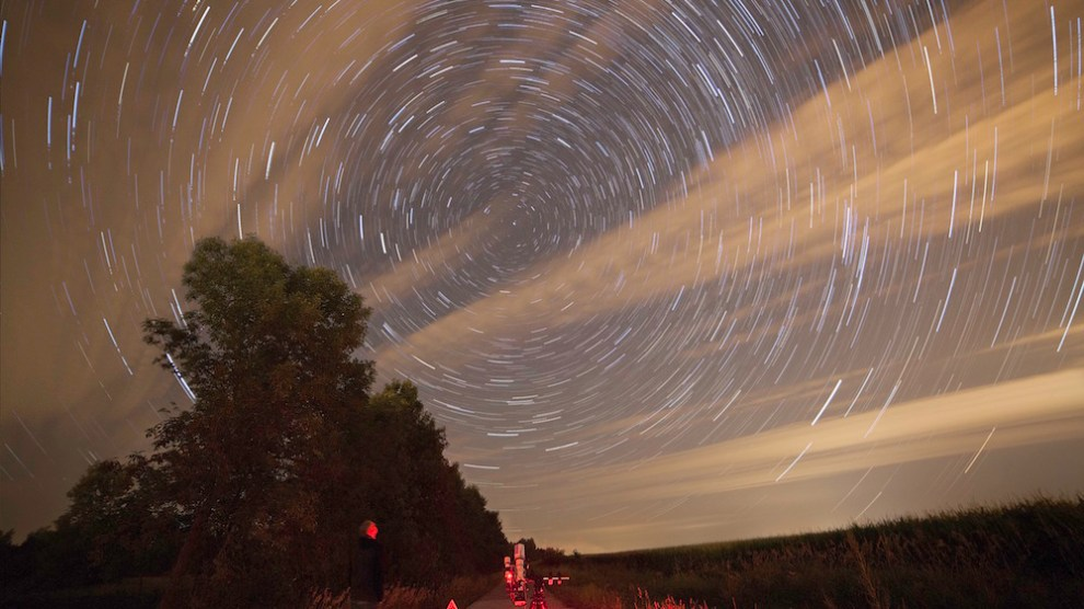 Star trails Cory