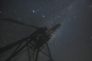 Windmill Milky Way ruined by dew