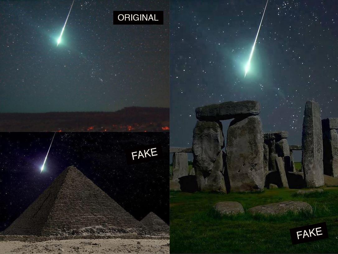 Globe trotting meteor