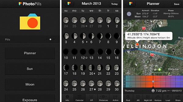 Mark Gee photopills moon silhouettes plan