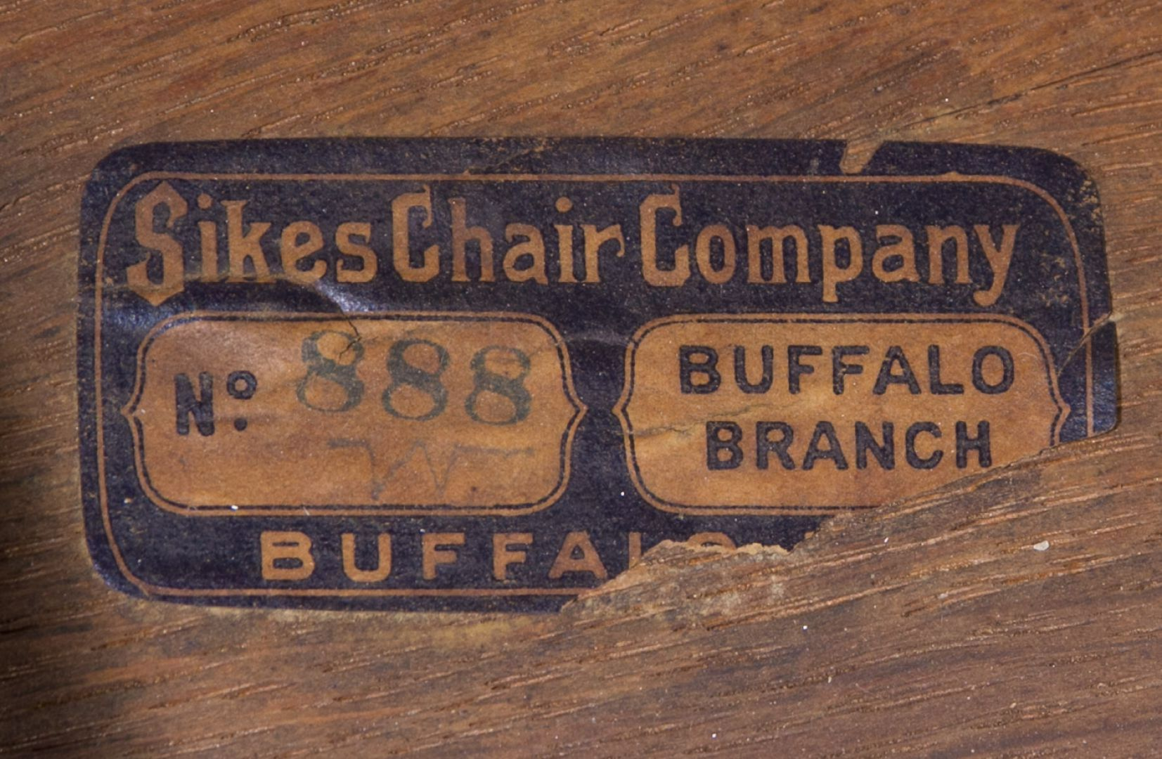 sikes chair company desk white lot 32 oak chairs by leonard auction sale 198 view 2