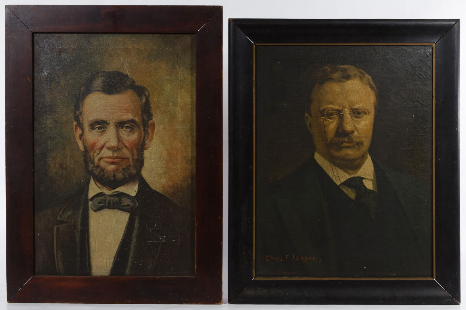Lot 131 Abraham Lincoln And Teddy Roosevelt Enhanced