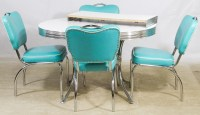 Lot 64: Mid-Century Modern Chrome and Formica Kitchen ...