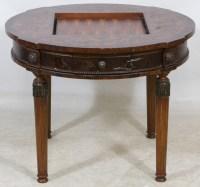 Modern Game Table with Backgammon Insert   Leonard Auction