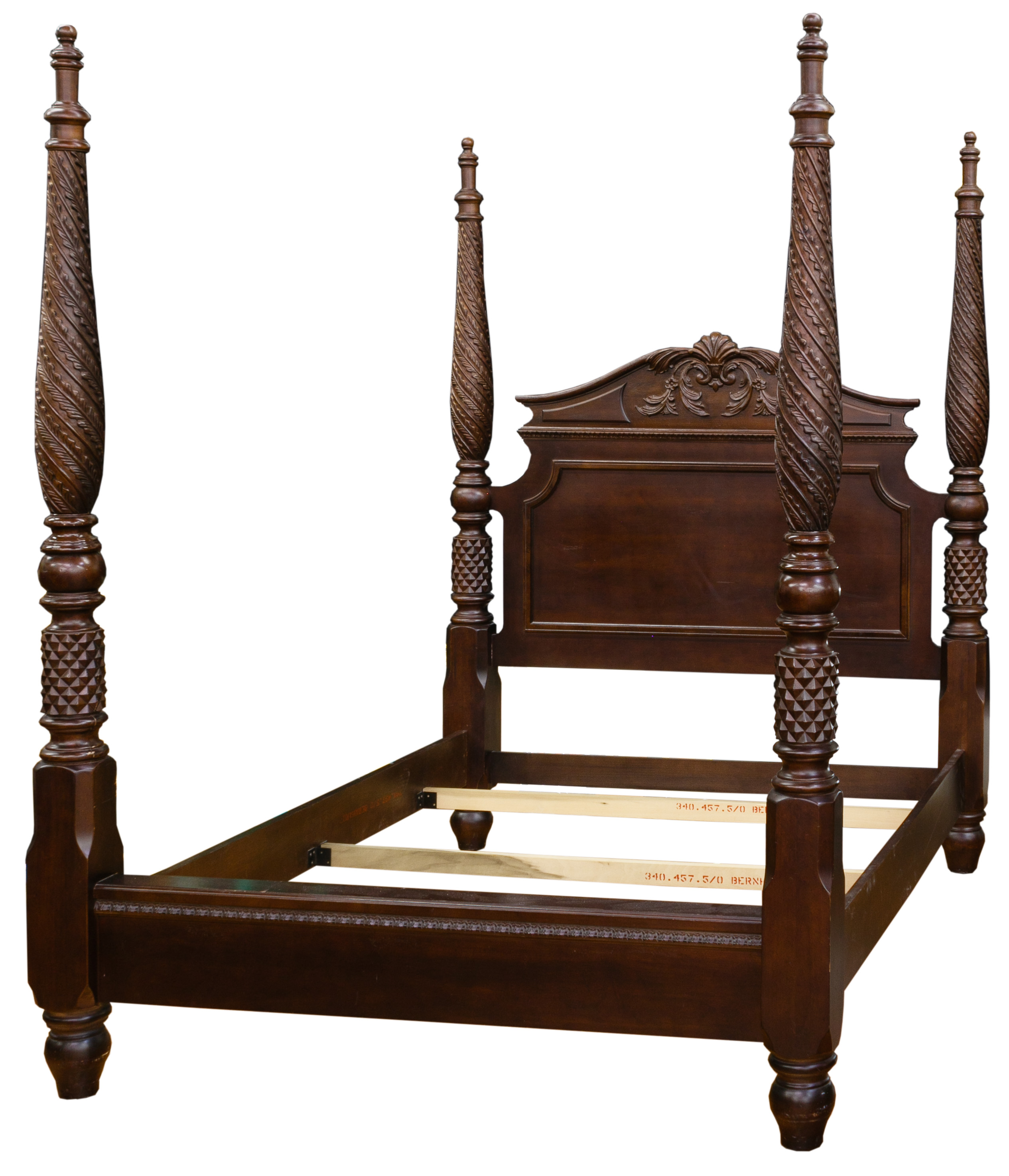 mahogany four poster bed by bernhardt