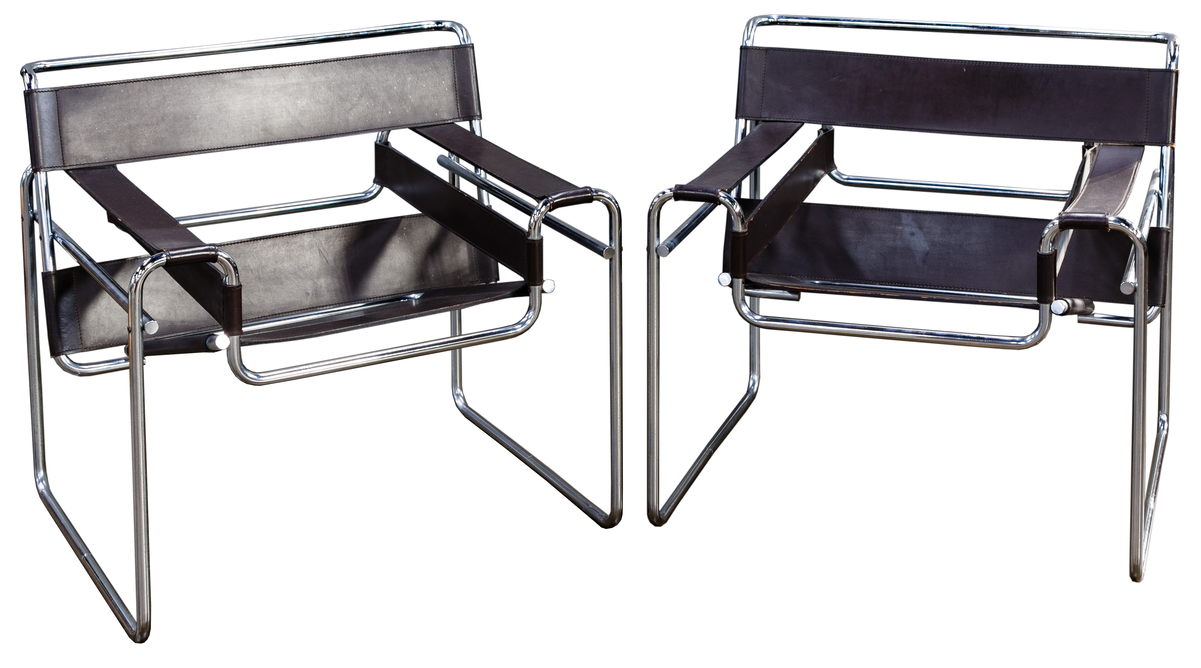 wassily chair brown leather rail molding home depot marcel breuer chairs for stendig image 1
