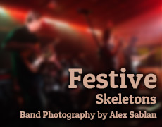 Band Photography – Festive Skeletons by Alex Sablan