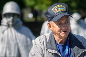 A Korean War Veteran at the Korean War Memorial - Dayton Photographer Alex Sablan