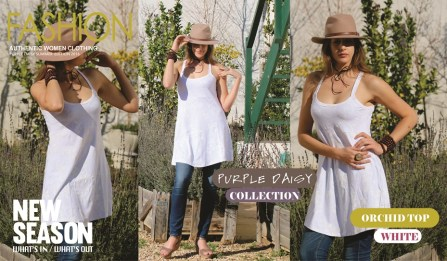 14 - Orchird Top - White