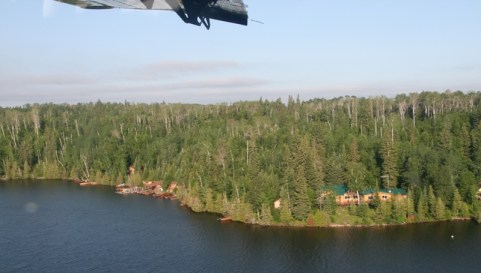 Esnagami Lodge from the Air